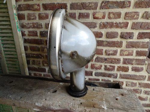 Leeslamp industrieel excellent vloerlamp torch antique zwart en